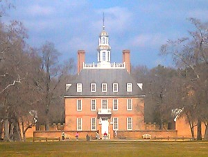 The Governor's Palace at Colonial Williamsburg.