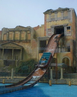 Get Wet On Escape From Pompeii At Busch Gardens Williamsburg