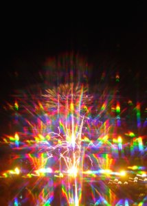 Here's a photo I took of Fourth of July fireworks seen through a prism!