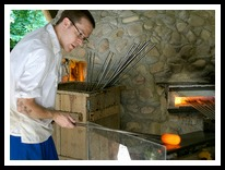 Jamestown Virginia glassblowing