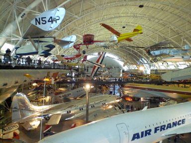 Layover at Washington's Dulles Airport?  Visit the nearby National Air & Space Museum.