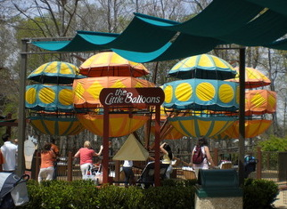 The Little Balloons ride in the Italy section of Busch Gardens Williamsburg is the perfect gentle ride for the kiddies.