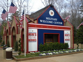 The Military Welcome Center at Busch Gardens Williamsburg.