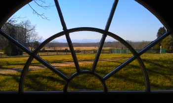 A window from the cellars at Montpelier.