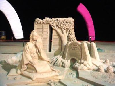An amazing sand sculpture at the Virginia Beach Neptune Fest