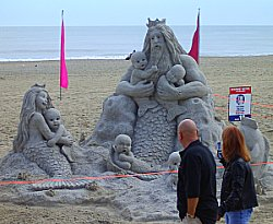 Could you build a sand castle like this one at the Virginia Beach Neptune Festival?