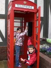 The British phone booth just inside the entrance gates at Busch Gardens Williamsburg is great for photo ops!