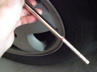 Full tires = better mileage. Check your tire pressure regularly.