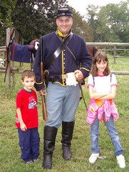 A Civil War re-enactor in Virginia.