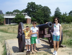 Kids are free at Yorktown Battlefield!